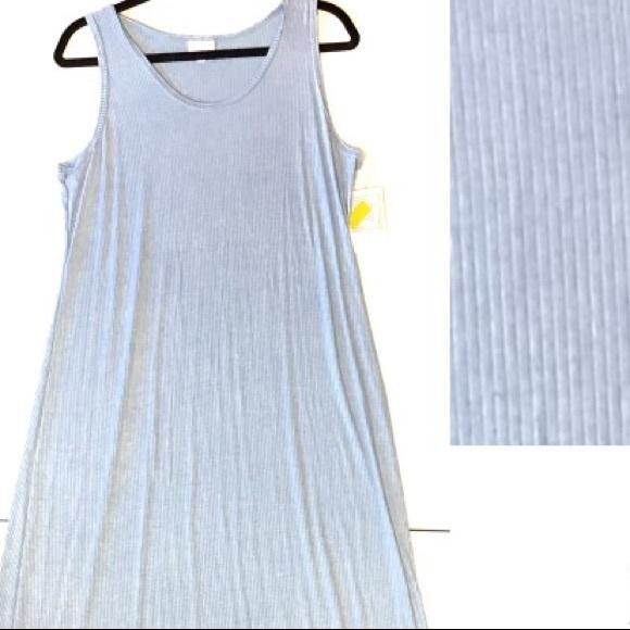 54f28538ad LuLaRoe Light Blue Dani Tank Dress